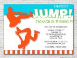 Free Jump Party Invitations Everybody Jump Birthday Invitation Printable or Printed W