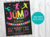 Free Jump Party Invitations Jump Birthday Invitation Trampoline Party by