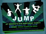 Free Jump Party Invitations Jump Trampoline or Bounce House Birthday Party Invite for Big