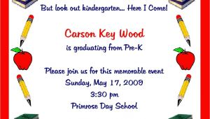 Free Kindergarten Graduation Invitations Pre K Graduation Quotes Quotesgram