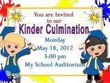 Free Kindergarten Graduation Invitations Preschool Graduation Invitations Printable Invites