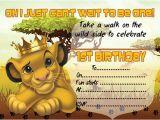 Free Lion King Birthday Invitation Template 10 X Children Kids Birthday Party Invitations the Lion