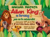 Free Lion King Birthday Invitation Template 5r Lion King Birthday Invitation Dioskouri Designs