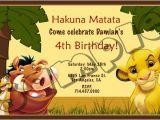 Free Lion King Birthday Invitation Template Lion King Birthday Party Invitation Ideas Free Printable