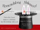 Free Magic Birthday Party Invitation Template Birthday Invitations Magic with Hat & Bunny $15 00 Via