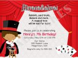 Free Magic Birthday Party Invitation Template Free Printable Birthday Party Invitations Templates