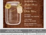 Free Mason Jar Bridal Shower Invitation Templates Printable Bridal Shower Invitation Template