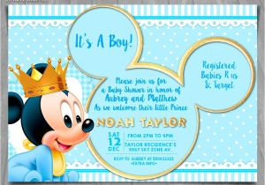 Free Mickey Mouse Baby Shower Invitation Templates Free Mickey Mouse Baby Shower Invitation Templates