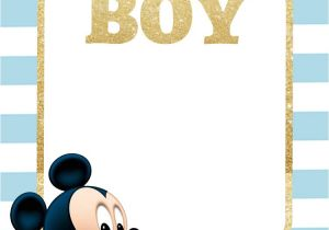 Free Mickey Mouse Baby Shower Invitation Templates Free Printable Baby Shower Invitations – Glitter Gold