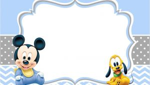 Free Mickey Mouse Baby Shower Invitation Templates Mickey Mouse Baby Shower Invitations