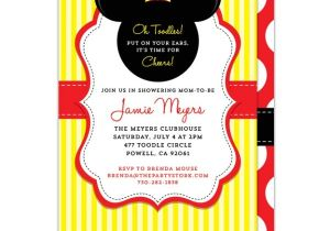 Free Mickey Mouse Baby Shower Invitation Templates Mickey Mouse Baby Shower Invitations Printable