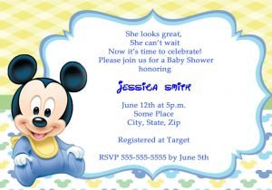 Free Mickey Mouse Baby Shower Invitation Templates Mickey Mouse Baby Shower Invitations Thank You Cards