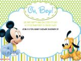 Free Mickey Mouse Baby Shower Invitation Templates New Free Printable Mickey Mouse Baby Shower Invitation