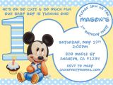 Free Mickey Mouse Birthday Invitation Templates Baby Mickey Mouse Matches Mickey 39 S 1st Party Supplies