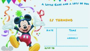 Free Mickey Mouse Birthday Invitation Templates Free Mickey Mouse 1st Birthday Invitations Bagvania Free