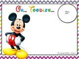 Free Mickey Mouse Birthday Invitation Templates Free Mickey Mouse Birthday Invitations Template Chevron
