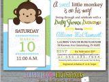 Free Monkey Baby Shower Invitation Templates Baby Shower Invitations Best Monkey Baby Shower