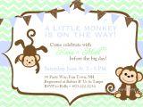 Free Monkey Baby Shower Invitation Templates Baby Shower Invitations Free Printable Baby Shower Monkey