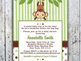 Free Monkey Baby Shower Invitation Templates Free Printable Monkey Baby Shower Invitations