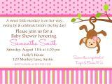 Free Monkey Baby Shower Invitation Templates Monkey Baby Shower Invitation Ideas