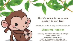Free Monkey Baby Shower Invitation Templates Monkey Baby Shower Invitations Templates Free