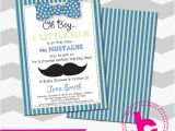 Free Mustache Baby Shower Invitation Templates Mustache Baby Shower Invitation Template by Bellcreation