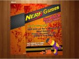 Free Nerf Birthday Invitation Template Free Nerf Gun Party Invitations Cheap