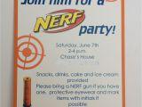 Free Nerf Birthday Invitation Template Nerf Birthday Party Invitation