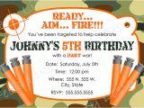 Free Nerf Birthday Invitation Template Nerf Party Invitations Nerf Party Invitations for Simple