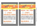 Free Nerf Birthday Invitation Template Nerf Party Invitations Template