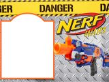 Free Nerf Gun Party Invitations Printable Nerf Gun Party Invitation Template Free Invitation