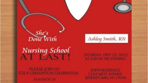 Free Nursing School Graduation Invitation Templates Free Printable Graduation Party Invitation Template Nurse