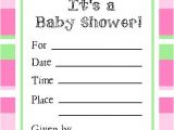 Free Online Baby Shower Invitations to Print Free Line Baby Shower Invitations Template