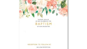 Free Online Baptism Invitations Templates Free Floral Baptism Invitation Template