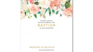 Free Online Baptism Invitations Templates Free Floral Baptism Invitation Template