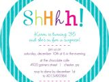 Free Online Surprise Birthday Party Invitations Surprise Birthday Invitations Colorful Shhh Surprise