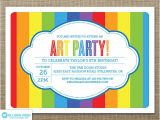 Free Paint Party Invitation Template 7 Best Images Of Art Party Invitations Printable Paint