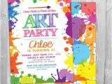 Free Paint Party Invitation Template Art Paint Party Invitations Printable Birthday Invitation