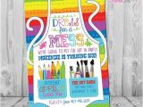 Free Paint Party Invitation Template Art Party Invitation Art Party Art Birthday Invitation Art