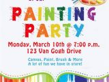 Free Paint Party Invitation Template Invite and Delight Painting Party