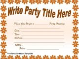 Free Party Invitation Template Free Party Invitations Template Best Template Collection