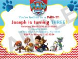 Free Paw Patrol Birthday Invitations with Photo Birthday Invitation Card Free Printable Birthday