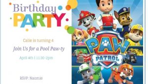 Free Paw Patrol Birthday Invitations with Photo Free Printable Paw Patrol Birthday Invitation Ideas
