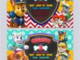 Free Paw Patrol Birthday Invitations with Photo Paw Patrol Birthday Invitations Free Printables