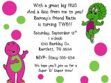 Free Personalized Barney Birthday Invitations 10 Barney Baby Bop Invitations with Envelopes by