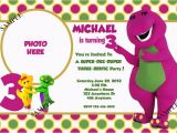 Free Personalized Barney Birthday Invitations 25 Best Images About Barney Party On Pinterest Dubai