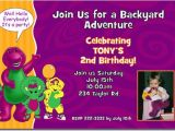 Free Personalized Barney Birthday Invitations Barney Birthday Invitations Candy Wrappers Thank You