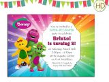 Free Personalized Barney Birthday Invitations Barney Invitation Barney Birthday Invitation by Hdinvitations