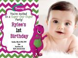 Free Personalized Barney Birthday Invitations Barney Invitations Birthday Party Home Party Ideas