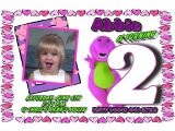 Free Personalized Barney Birthday Invitations Barney Personalized Photo Birthday Invitations 1 09